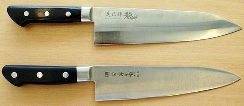 top to bottom bu rei zen heavy chefs knife tojiro dp western deba - German Kitchen Knives