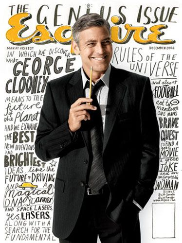 george clooney esquire cover december 2006