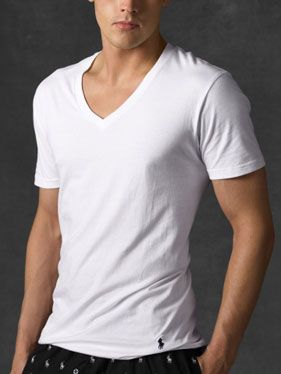 12c7a15c The Best for Thinner Men: Ralph Lauren Classic V-Neck