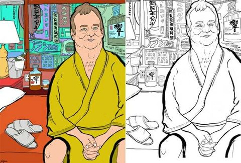Something Cool We Saw Online: Bill Murray Coloring Book