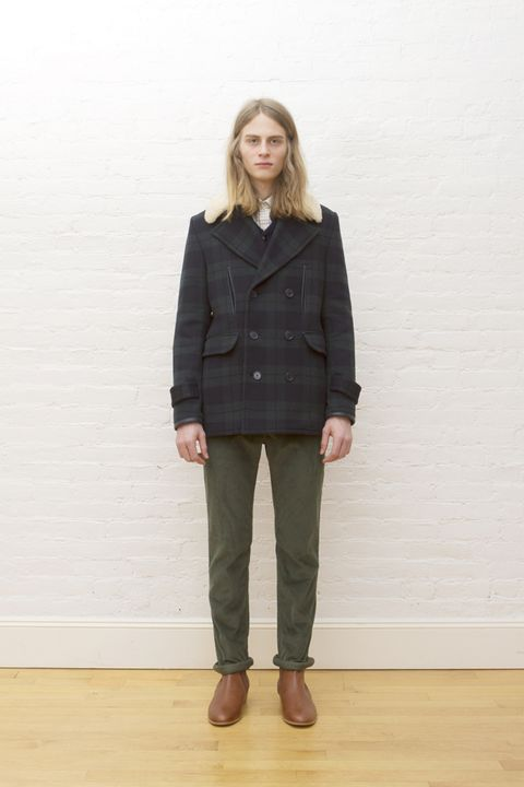 Clothing, Brown, Collar, Sleeve, Coat, Shoulder, Joint, Standing, Khaki, Outerwear,