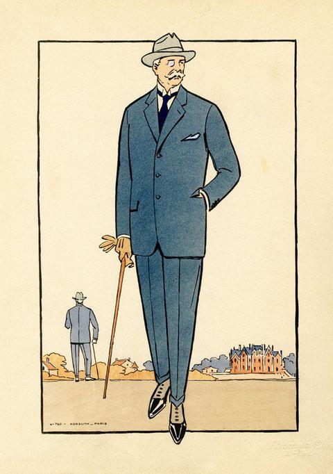 Vintage Men S Fashion Illustrations 1920s Men S Style