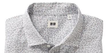 Product, Collar, Sleeve, Textile, Dress shirt, White, Pattern, Fashion, Neck, Black,