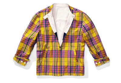 Clothing, Blue, Product, Yellow, Dress shirt, Collar, Sleeve, Pattern, Textile, Shirt,