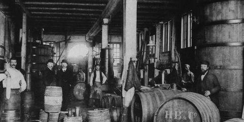 Barrel, Winery, Monochrome, Factory, Still life photography, Wine cellar, Machine, Mass production, Keg, Workshop,