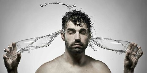 Skin, Facial hair, Chest, Jaw, Barechested, Muscle, Trunk, Beard, Net, Stock photography,