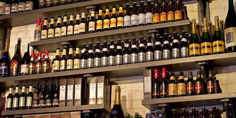 Glass bottle, Drink, Bottle, Alcohol, Alcoholic beverage, Distilled beverage, Liquor store, Drinking establishment, Bottle cap, Drinkware,