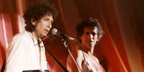 Bob Dylan And Keith Richards At Live Aid In 1985 Redferns Via Getty Images
