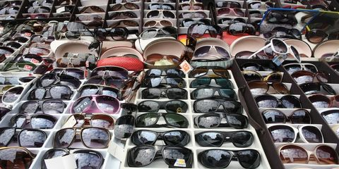 Eyewear, Vision care, Product, Collection, Light, Sunglasses, Reflection, Plastic, Silver,