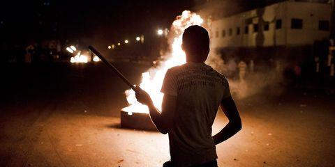 Standing, Elbow, Heat, Light, Fire, Flame, Pollution, Back, Smoke, Gunshot,