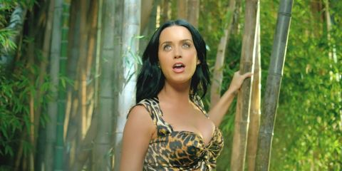 Mouth, Eye, Dress, Beauty, Black hair, Long hair, Forest, Bamboo, Trunk, Day dress,