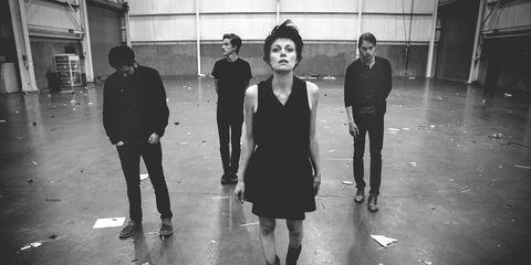 Leg, Standing, Monochrome, Style, Floor, Dress, Black-and-white, Black, Little black dress, Monochrome photography,