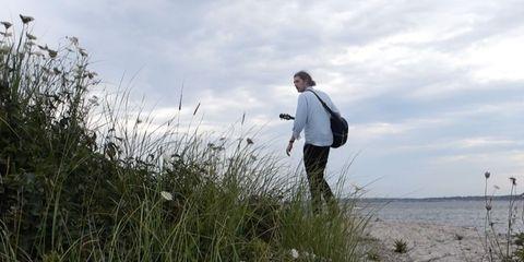 People in nature, Grass family, Shore, Prairie, Sand, Walking, Wetland, Sedge family,