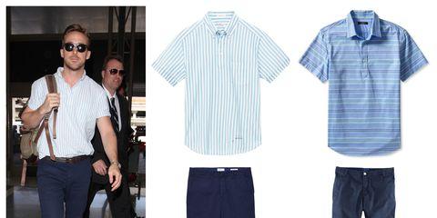 Clothing, Eyewear, Product, Dress shirt, Collar, Sleeve, Trousers, Textile, Shirt, Denim,