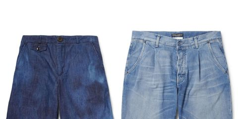 Blue, Product, Denim, Textile, Jeans, Photograph, Pocket, White, Electric blue, Light,