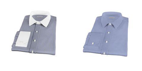 Blue, Product, Dress shirt, Collar, Sleeve, Pattern, Textile, White, Black, Baby & toddler clothing,