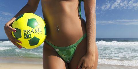 Ball, Fun, Brassiere, Swimsuit bottom, Swimwear, Swimsuit top, Bikini, Summer, People in nature, Undergarment,