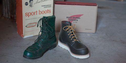 Footwear, Shoe, Boot, Carmine, Walking shoe, Work boots, Brand, Outdoor shoe, Synthetic rubber, Steel-toe boot,