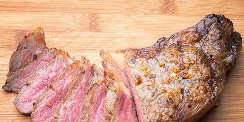 Wood, Beef, Flat iron steak, Meat, Hardwood, Pastrami, Steak, Pork, Roast beef, Red meat,