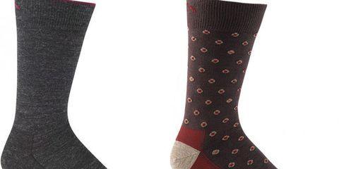 Footwear, Red, Boot, Pattern, Carmine, Costume accessory, Fashion, Black, Maroon, Sock,
