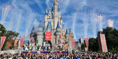 Crowd, People, Event, Walt disney world, Landmark, World, Audience, Public event, Spire, Amusement park,