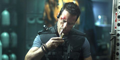 Muscle, Shooter game, Military person, Ballistic vest, Air gun, Action film, Revolver, Shooting, Gunshot, Games,