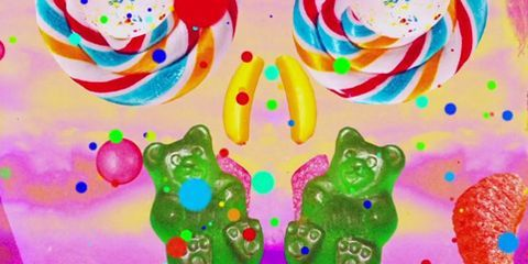 Colorfulness, Magenta, Toy, Sweetness, Graphics, Confectionery, Painting,