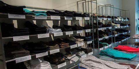 Shelving, Retail, Clothes hanger, Outlet store, Shelf, Collection, Dormitory, Closet, Linens, Shoe store,