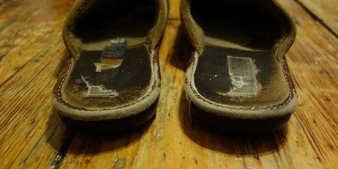 Footwear, Wood, Brown, Shoe, Hardwood, Tan, Wood stain, Beige, Wood flooring, Laminate flooring,