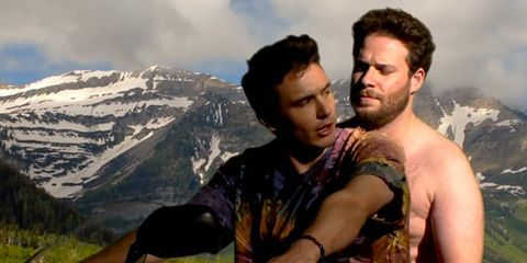 Mountainous landforms, Mountain range, Highland, Facial hair, Interaction, Beard, Hill, Summit, Ridge, Black hair,