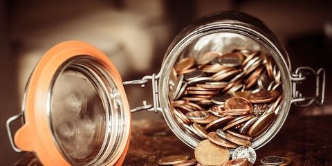 Amber, Saving, Photography, Still life photography, Metal, Close-up, Transparent material, Seed, Sunflower seed, Money,