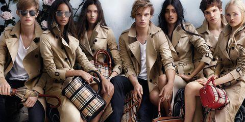 Face, Bag, Fashion, Youth, Pattern, Luggage and bags, Fashion model, Long hair, Plaid, Fashion design,