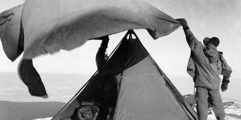 Tent, Style, Camping, Snow, Tarpaulin, Monochrome photography, Ice cap, Ice, Glacial landform, Freezing,