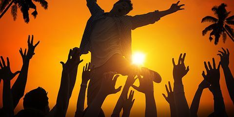 People in nature, Rejoicing, Backlighting, Band plays, Arecales, Silhouette, Gesture, Celebrating, Palm tree, Cheering,