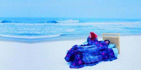 Body of water, Blue, Coastal and oceanic landforms, Ocean, Aqua, Sea, Azure, Wave, Beach, Electric blue,