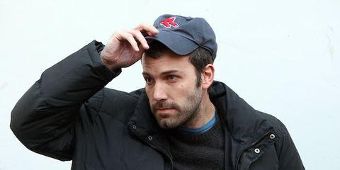 Cap, Ear, Jacket, Sleeve, Outerwear, Collar, Beard, Baseball cap, Headgear, Cool,