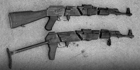 Black, Grey, Tan, Trigger, Machine gun, Shotgun, Air gun, Gun barrel, Silver, Gun accessory,