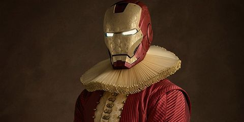 Armour, Fictional character, Headgear, Personal protective equipment, Costume, Costume accessory, Iron man, Knight, Mask, Acting,