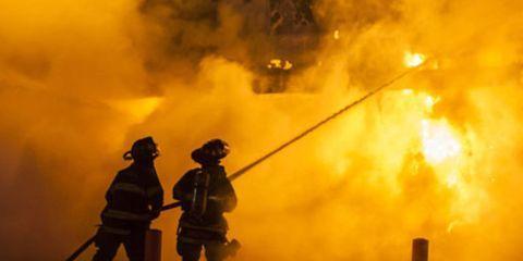 Burning Building in Ferguson