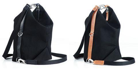 Brown, Bag, Costume accessory, Black, Leather, Boot, Hobo bag, Strap, Shoulder bag, Wedge,