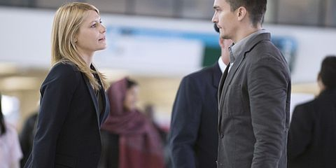 Coat, Outerwear, Formal wear, Blazer, White-collar worker, Conversation, Job, Blond, Businessperson, Layered hair,