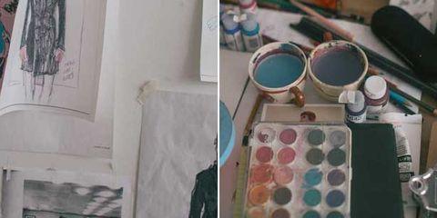 Flowerpot, Paint, Teal, Turquoise, Aqua, Creative arts, Art paint, Visual arts, Artwork, Stationery,