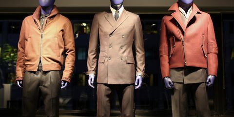 Dress shirt, Collar, Sleeve, Trousers, Standing, Suit trousers, Outerwear, Coat, Formal wear, Blazer,