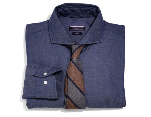 5091ec31 Cotton shirt ($129) by Tommy Hilfiger; cotton tie ($125) by Billy Reid.