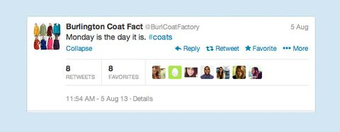 Fake Burlington Coat Factory Twitter Account Hilariously Descends into Madness