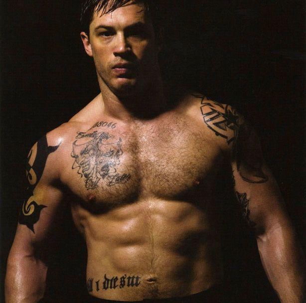 Intimidating muscle man