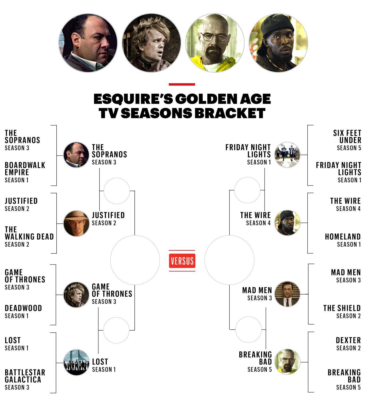 Vote Now: The Esquire TV Seasons Bracket, Elite Eight