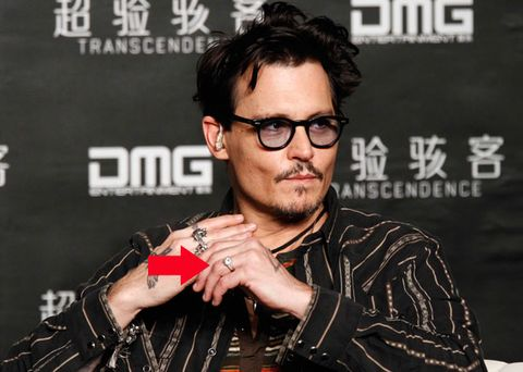 Johnny Depp Wears a Diamond Engagement Ring, Doesn't Care What You Think