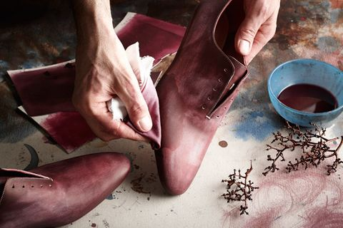 Wine-Dyed Shoes for Oenophiles