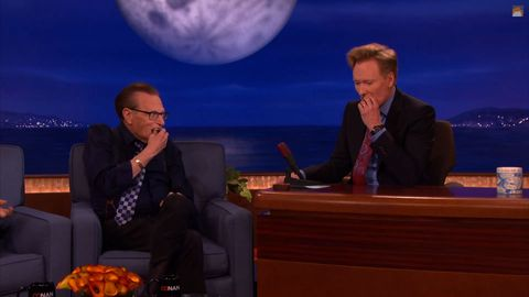 Watch Larry King and Conan Share a Pot Brownie